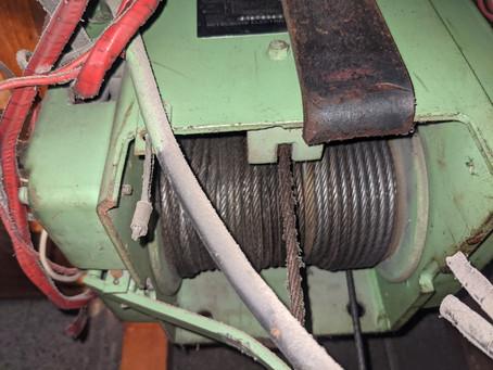 ロープ式ウインチ点検・修理