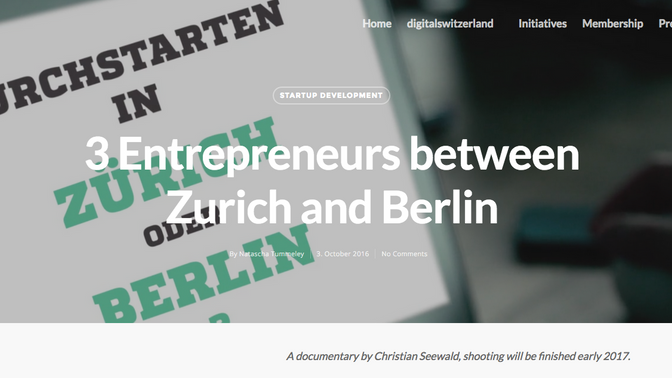 Startup Challenge - Berlin vs. Zürich - Doku-Teaser bei digitalswitzerland