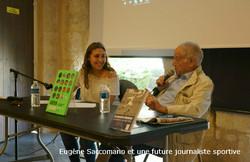 Eugene Saccomano et une future  journaliste sportive2