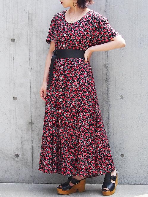 FLORAL PATTERN LONG DRESS