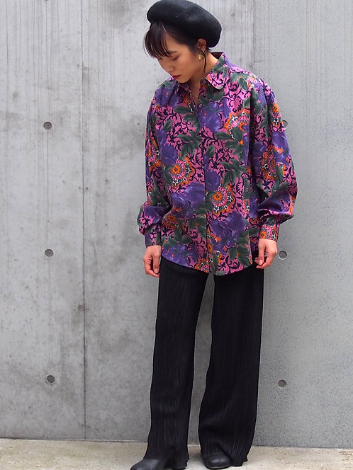 PAISLEY FLORAL DESIGN OVER SHIRT