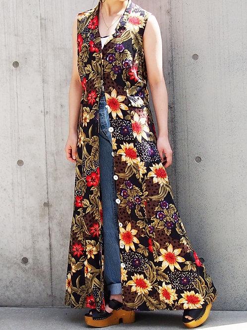 FLORAL BACK DESIGN  SHIRT DRESS