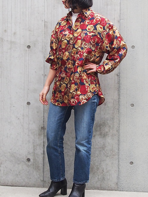 JEWELRY PATTERN SILK ROOSE OVER SHIRT