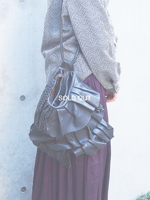 TIERED DESIGN 2WAY LEATHER BAG