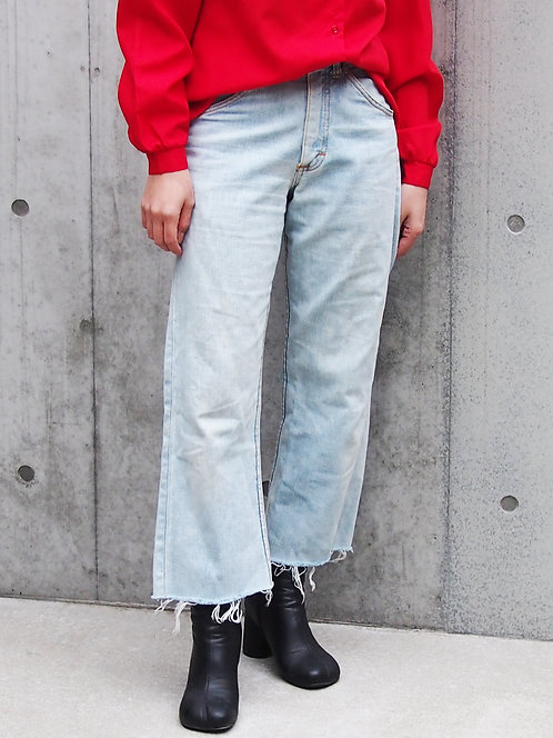 LEE UNCUT WASH DENIM PANTS