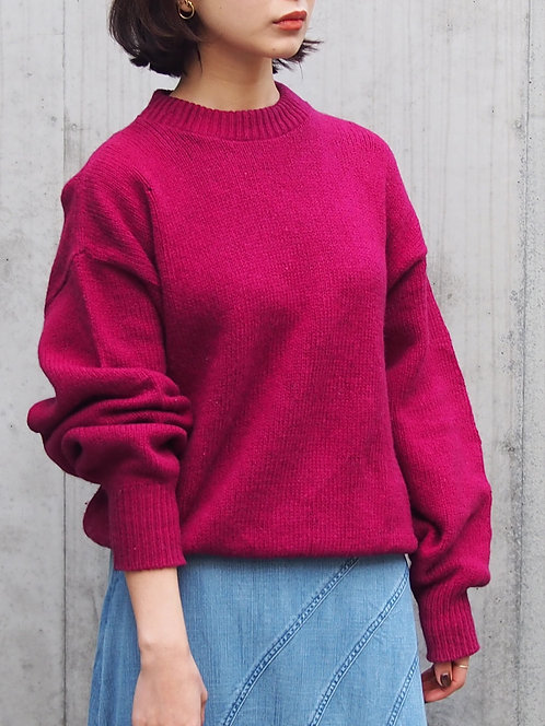 COLOR LOOSE KNIT TOPS