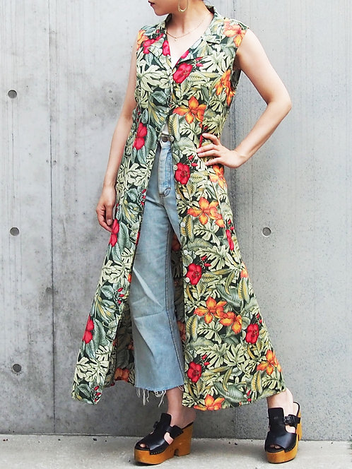 LEAF PATTERN 2WAY LONG DRESS