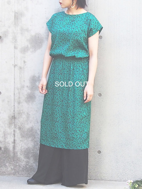 DESIGN PATTERN FRENCH SLEEVES DRESS