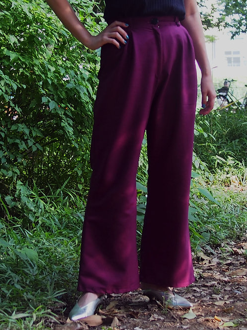 KIMONO REMAKE  COLOR WIDE PANTS / ND.ED.o25