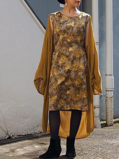 FLORAL SATIN VINTAGE DRESS