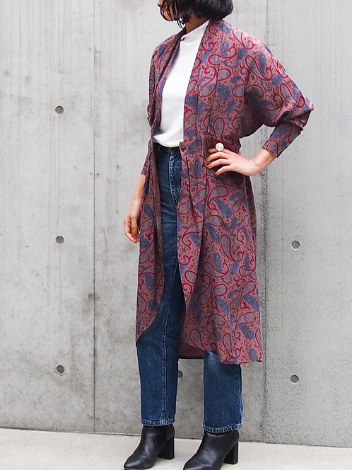 PAISLEY LONG GOWN CARDIGAN