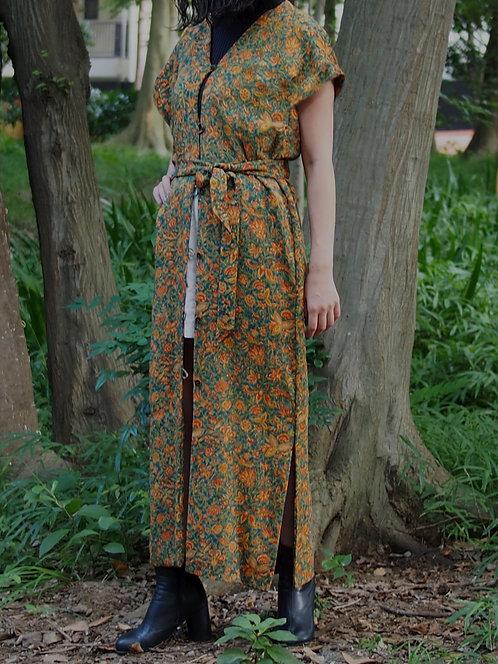 KOMONO FLORAL LONG  DRESS / ND.ED.o16