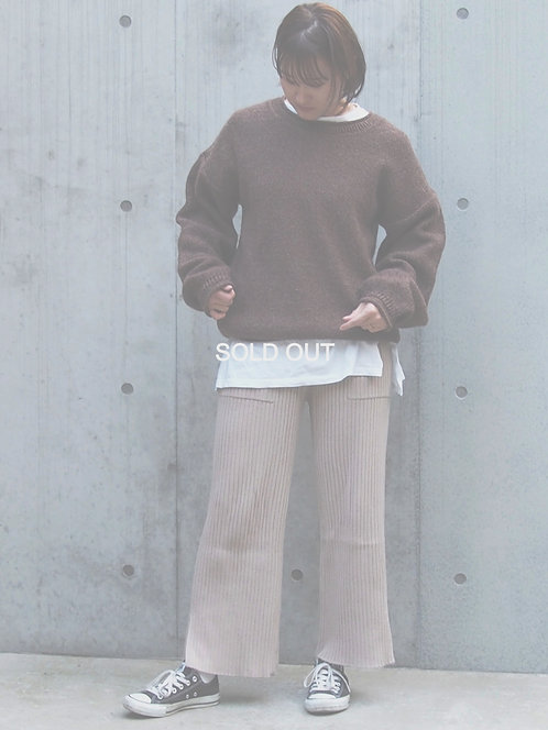 LOOSE SILHOUETTE MIX KNIT