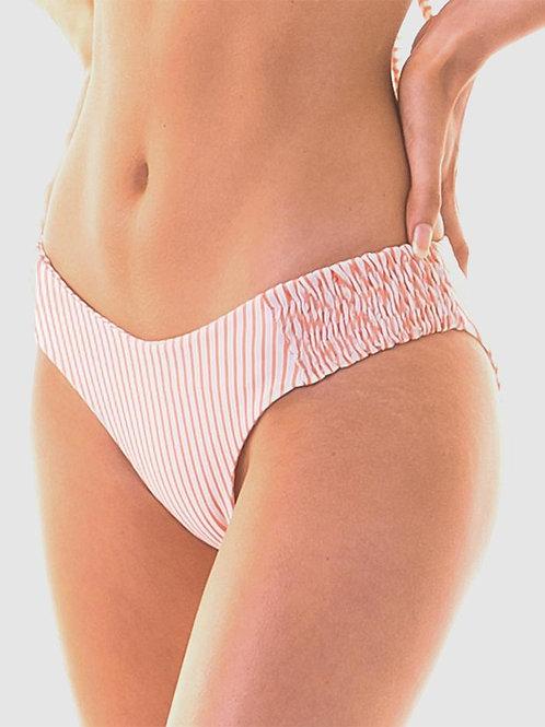 RH Swimwear  - Scrunch Bikini Pant -Cantaloupe Stripe