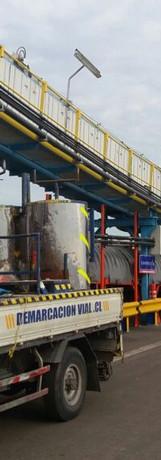 Instalacion de Barreras Puerto San Antonio
