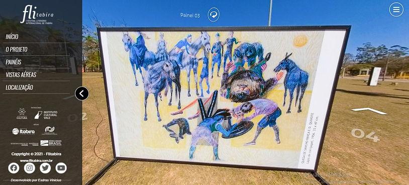 """Tour virtual 360° mostra a exposição """"Ocupação Dom Quixote – Portinari e Drummond"""" .jpeg"""