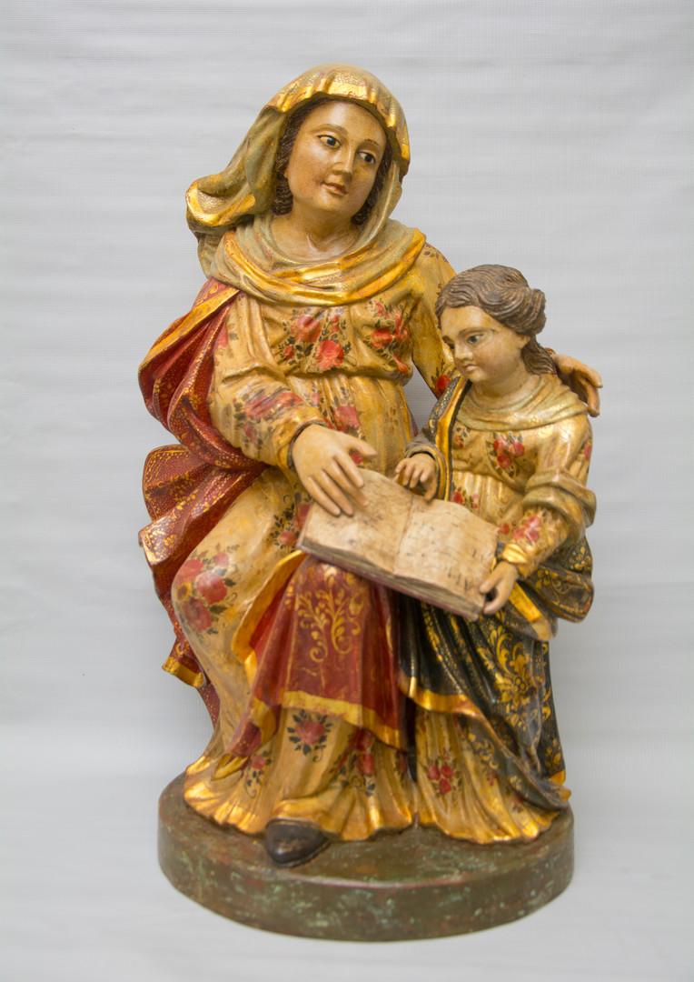 A Mestra -Madeira esculpida-Policromada