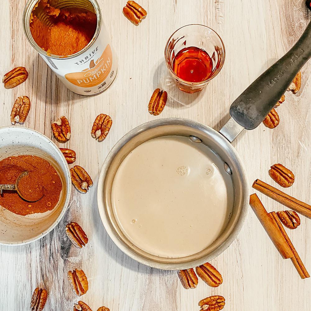 pecan milk pumpkin creamer