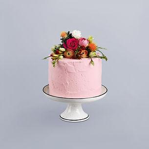 Pastel de bodas decorada de flores