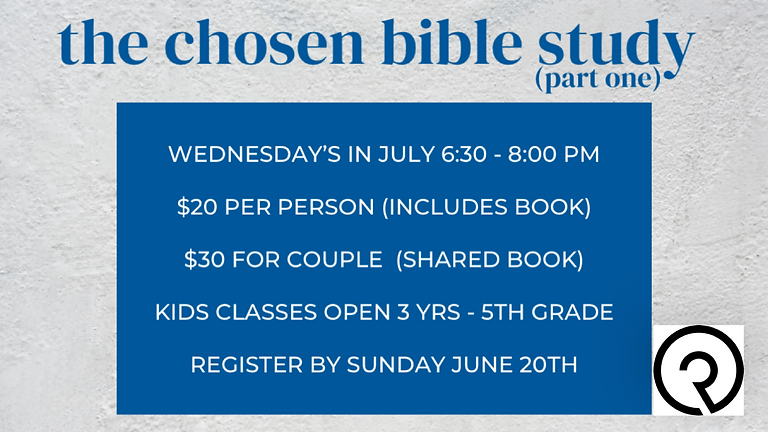 The Chosen Bible Study!