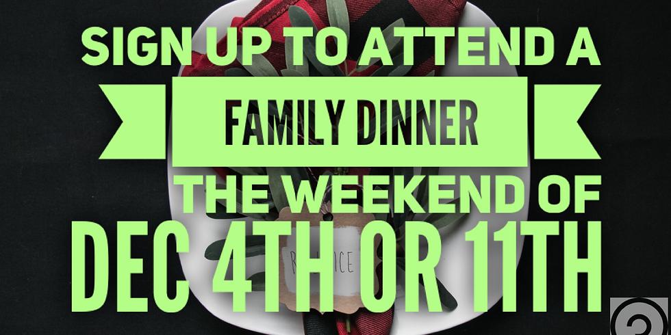 Family Christmas Dinners!