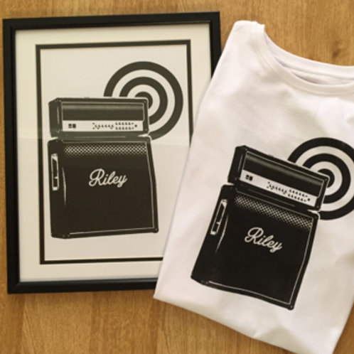 Personalised Guitar Amp Tshirt & Print package
