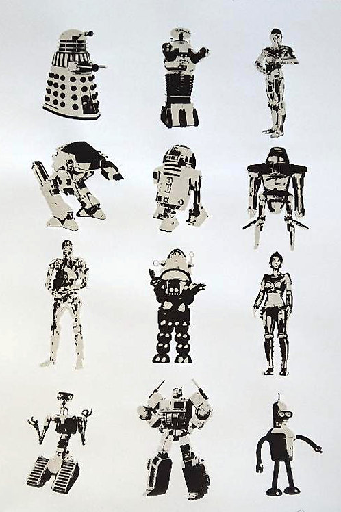 Classic Robots Screen Print