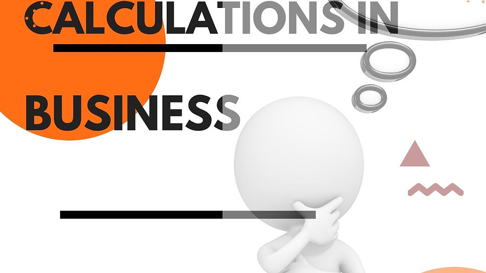 GCSE Calculations in Business