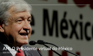 AMLO Presidente virtual do México