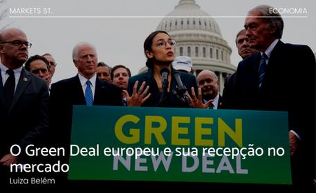 O Green Deal europeu e sua recepção no mercado