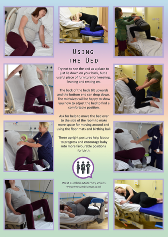 Active Births - poster 4 - Using the Bed