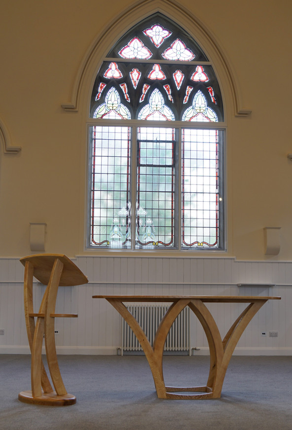 altar and lectern