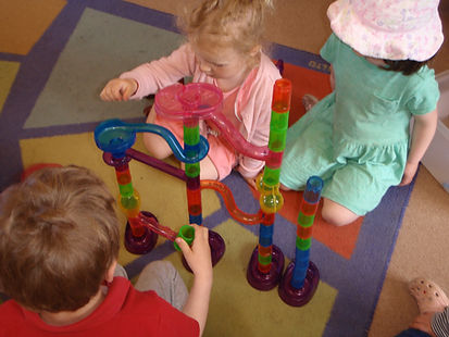 Mary Platt Preschool - Creating a marble run