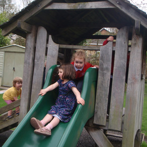 Mary Platt Preschool - Climbing and sliding