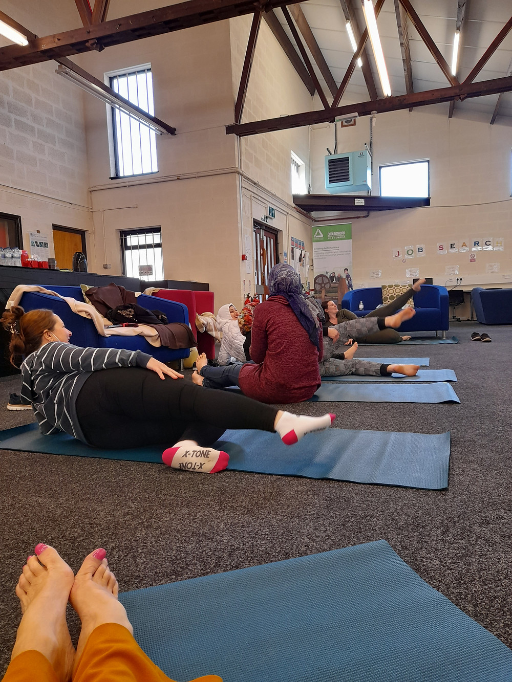 Women exercising - Tackling Inequalities Project, helping women from diverse ethnic backgrounds to feel confident, fit and healthy.