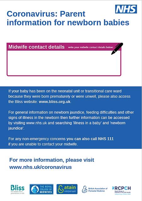 NHS England Newborn Leaflet part 2 - Mat