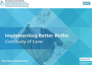 Better Births Continuity of Carer 12 17.