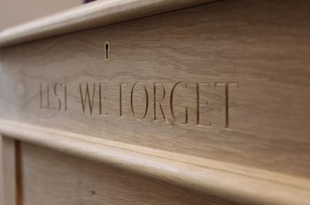 oak memorial display cabinet