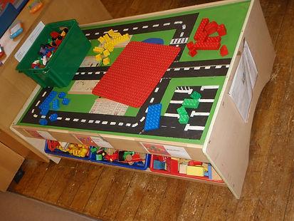Mary Platt Preschool - Construction table