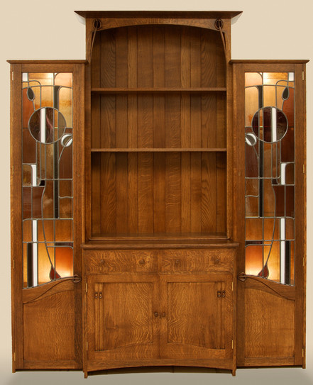 break-fronted mackintosh inspired cabinet