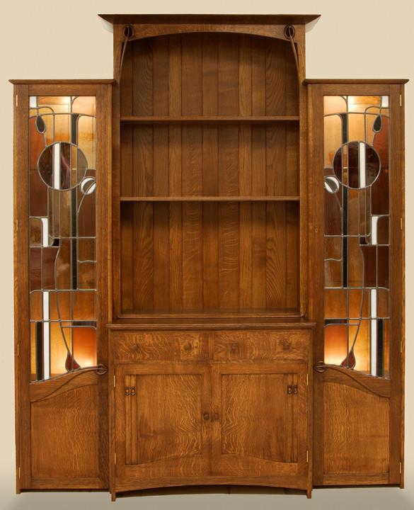 break-fronted mackintosh inspired cabinet