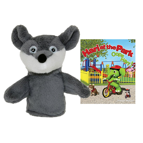 Hari at the Park book with Moe Finger Puppet