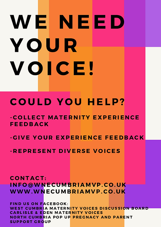 We need your voice - Maternity Voices Pa