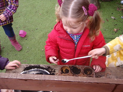 Mary Platt Preschool - Mud kitchen