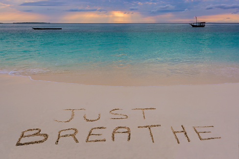 Breathing Workshop - Just Breathe Beach Scene - CG Fitness Body and Mind