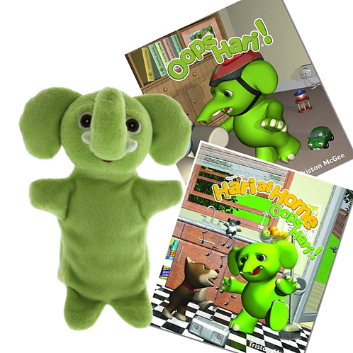 Hari Hand Puppet And Two Books