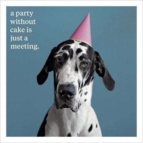Humorous dog card
