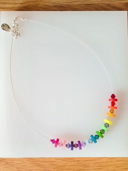 Rainbow Polaris Necklace. Matching items available if available.