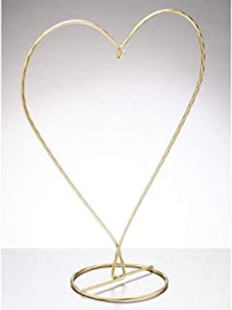 Gold heart shaped stand