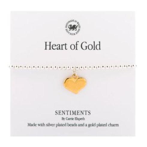 Carrie Elspeth Heart Of Gold Bracelet
